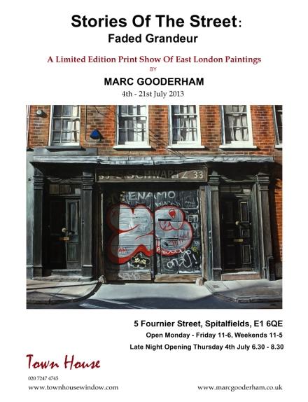Flyer - Marc Gooderham - Spitalfields show