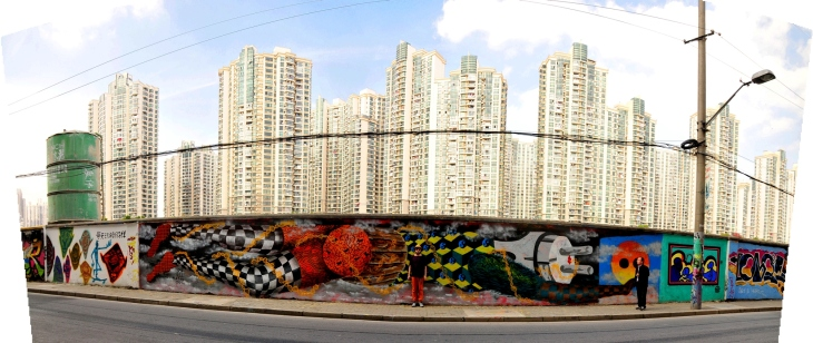 Obie Platon (pic of the artist) - Pollution, Shanghai, 2014 - panoramic view