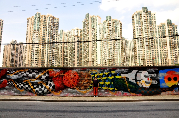 Obie Platon (pic of the artist) - Pollution, Shanghai, 2014