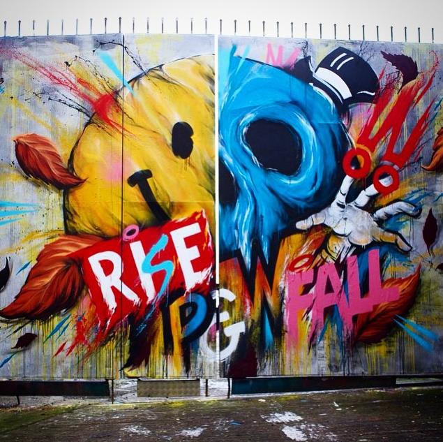 House Of Meggs X Global Street Art Rise Amp Fall Mural In