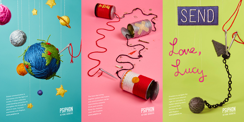 Rack & Pinion Creative – New Poster Series for Psiphon | Bizarre
