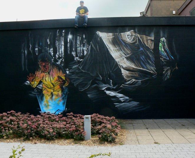FINDING Wallpainting By Klaas Van der Linden