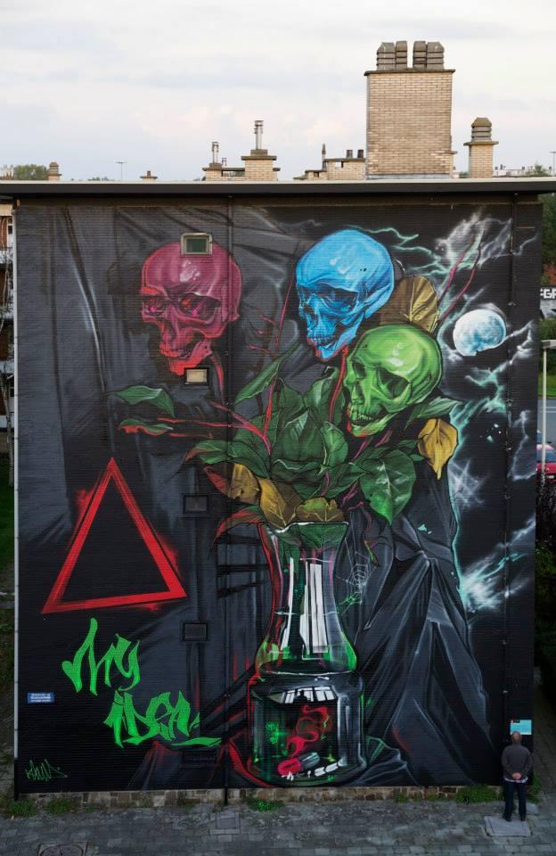 My Idea WallPainting By Klaas Van der Linden