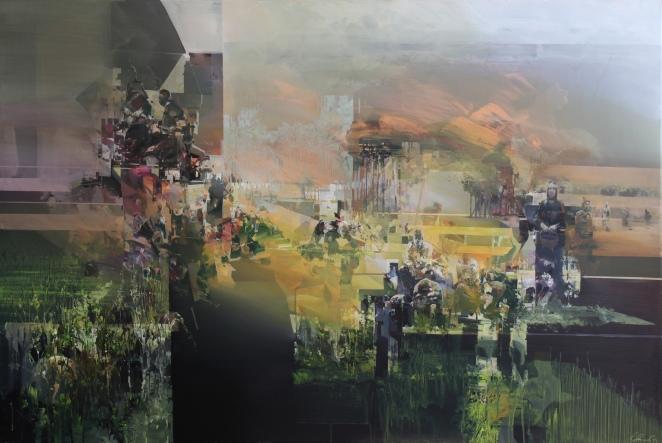 'forest+panic'+180x120cm;+acrylic+on+canvas;+2014