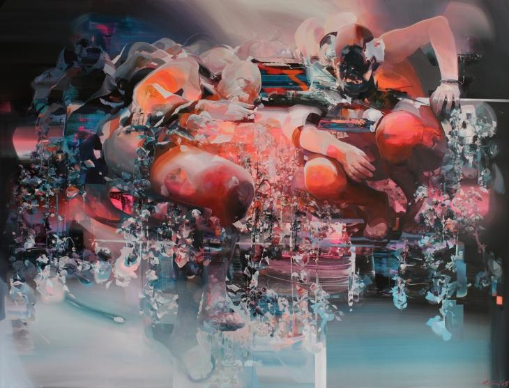 'quilt'+200x150;+acrylic+on+canvas;+2015