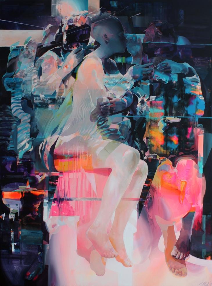're-dawn+II'+200x150cm;+acrylic+on+canvas;+2015
