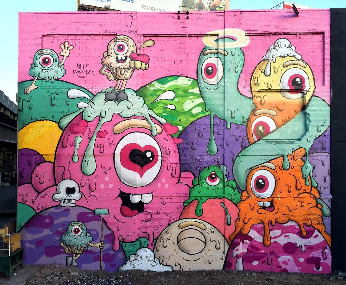 Graffiti art jersey city - Buff Monster New Mural In Jersey City Nj Bizarre Beyond Belief Magazine